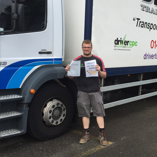 Man with HGV Certificate