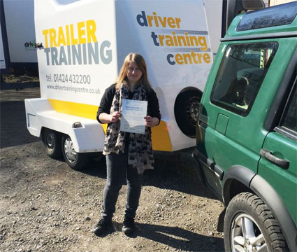 Woman passing trailer test